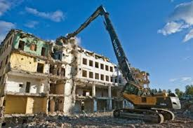 High reach arm demolition
